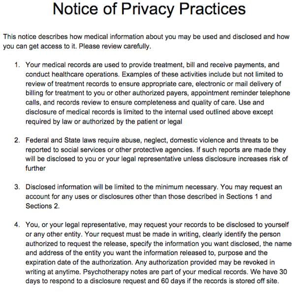 form template it privacy policy hipaa form texas authorization best
