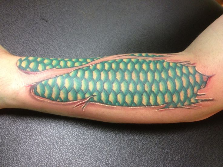 Fish scale tattoo