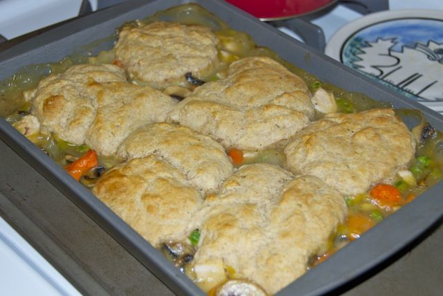 Chicken Pot Pie with Biscuit Crust | yum | Pinterest