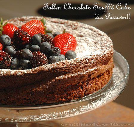 Fallen Chocolate Souffle Cake (Flourless)