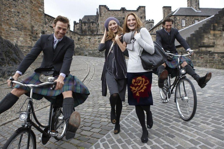 Kilts on bicycles!