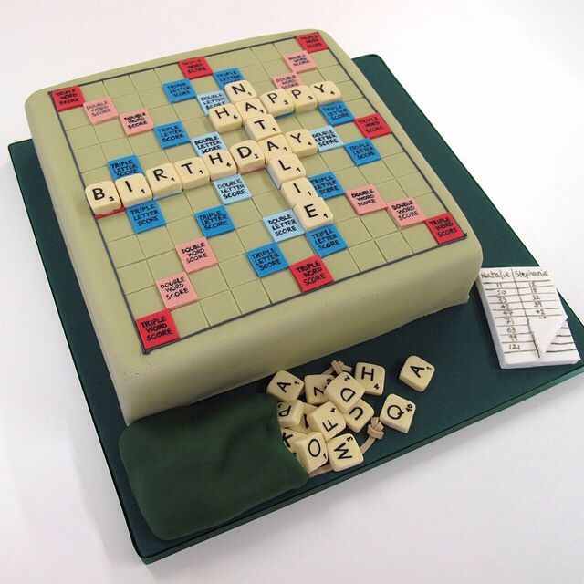 How To Make A Scrabble Board Cake
