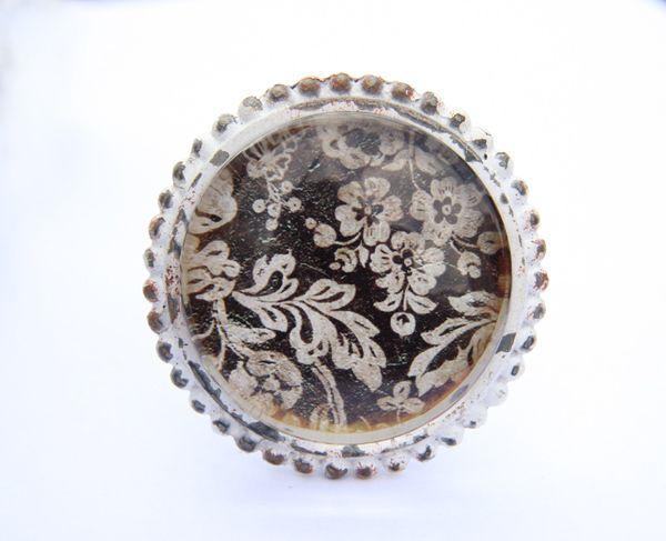 Möbelknauf aus Metall in Vintage Stil von Lemonbaum auf DaWanda.com