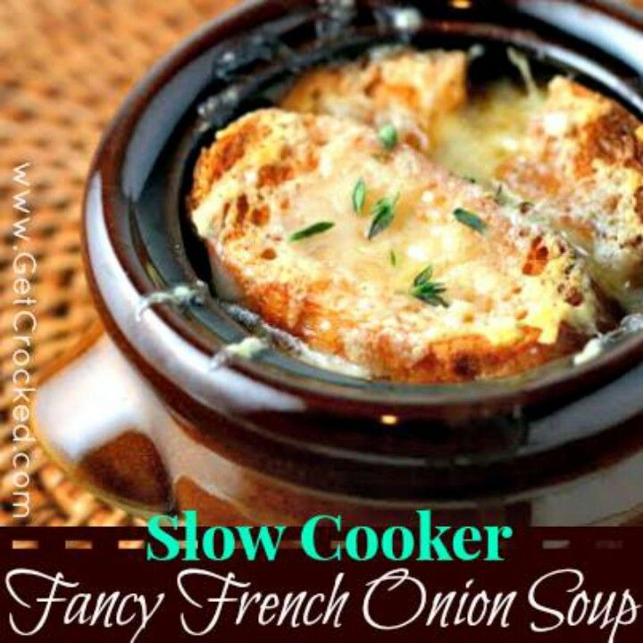 Fancy french onion soup | Crock pot recipies | Pinterest