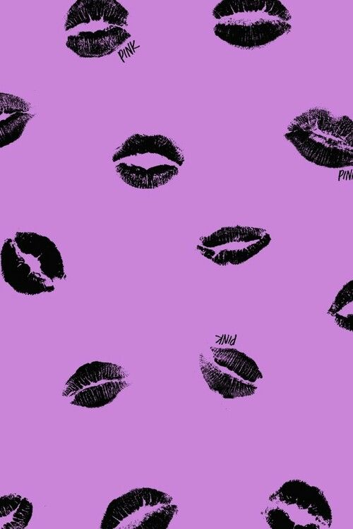 pink black lips purple background iphone wallpapers