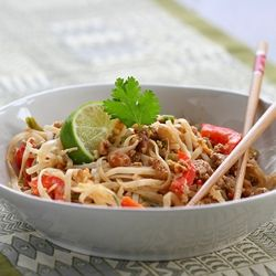 Low(er) Fat Pad Thai recipe