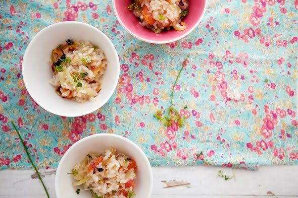 Roasted Fennel and Blood Orange Risotto. This would be no sugar if you ...