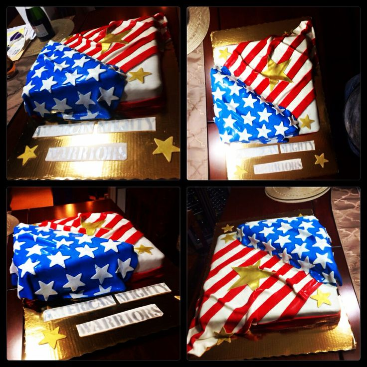 American flag cake | Independence Day cakes | Pinterest