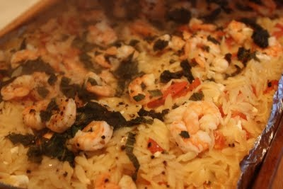 Basil Shrimp and Feta with Orzo | I'm so hungry! | Pinterest