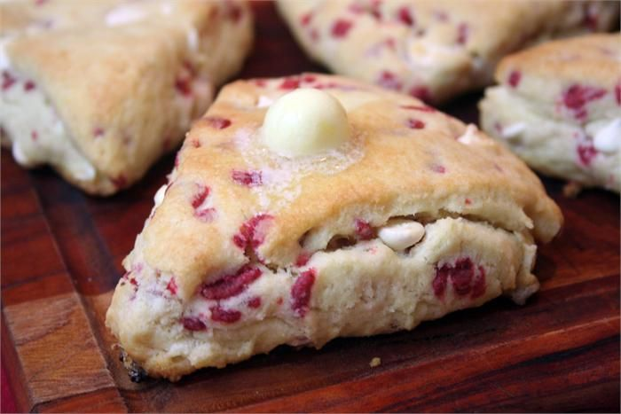 Raspberry White Chocolate Scones Recipes — Dishmaps
