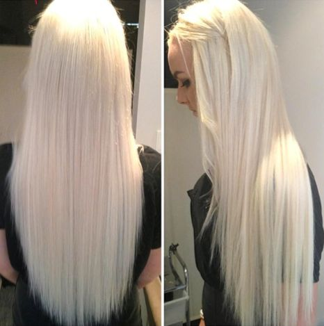 Long Platinum White Blonde Hair New Hair Color Pinterest