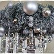 Christmas Chandeliers- Christmas Decorating - Silver Christmas