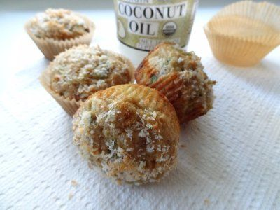 Coconut Zucchini Muffins by Nutrition Nut on the Run