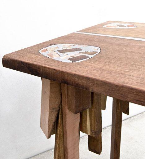 Recycled wood and tin. Poetic work by Dutch designer Pepe Heykoop.