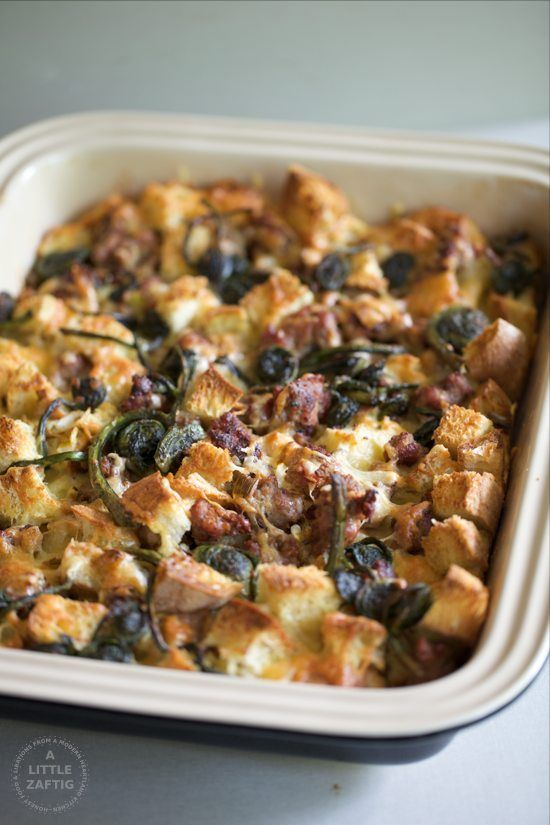 caramelized green and kale mushroom cheddar bake on broccoli mushroom ...