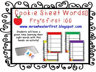 Word Sheet Mats! word Great cookie sheet Cookie  Sight sight center!