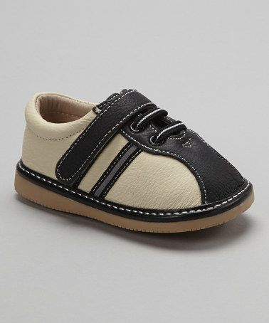 Take a look at this Oreo Stripe Leather Shoe by Modit on #zulily today