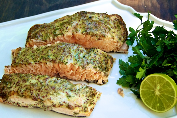 ... Side of Salmon with Mustard, Tarragon, and Chive Sauce (bonappetit