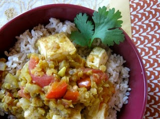 Red Lentil and Tofu Curry (replace chicken broth with vegetable broth ...