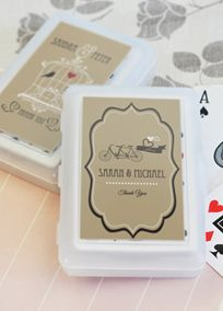 Personalized Vintage Wedding Playing Cards Style EB2033WV