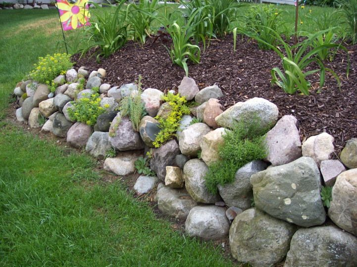Rock wall garden share for the garden pinterest for Rock wall garden