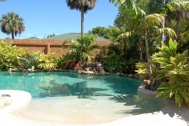backyard beach why not if i ever have a pool this is what i want