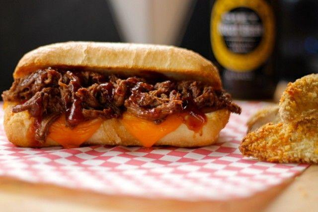 Slow Cooker Whiskey BBQ Beef Tenderloin Sandwiches | Recipe