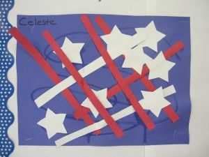 Patriotic Collage:  From: Teach Preschool