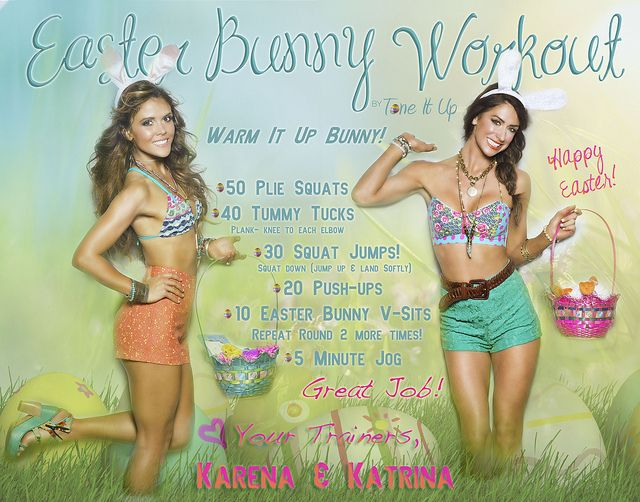 Somebunny ♡s you!! Easter Bunny workout ;)