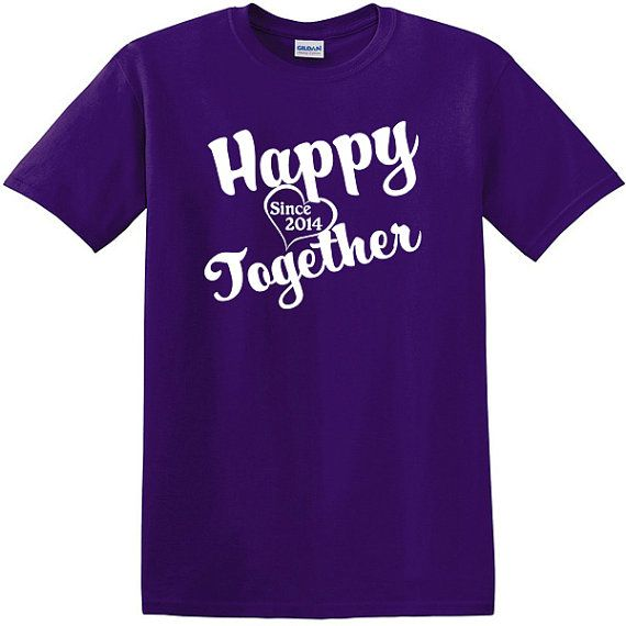 happy together since 2014 any year anniversary t shirt