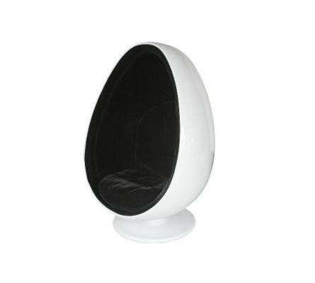 White egg shaped pod chair love4furniture co uk egg shaped pod chair