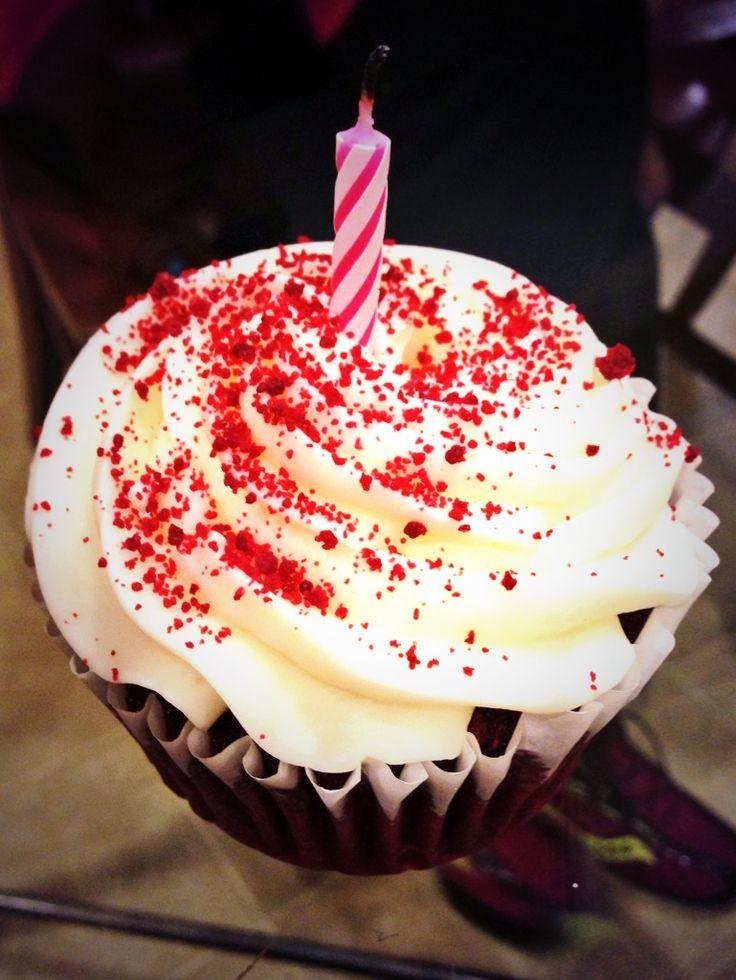 Red Velvet Birthday Cupcakes Recipe — Dishmaps