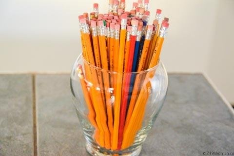 Alternative uses for erasers and pencils