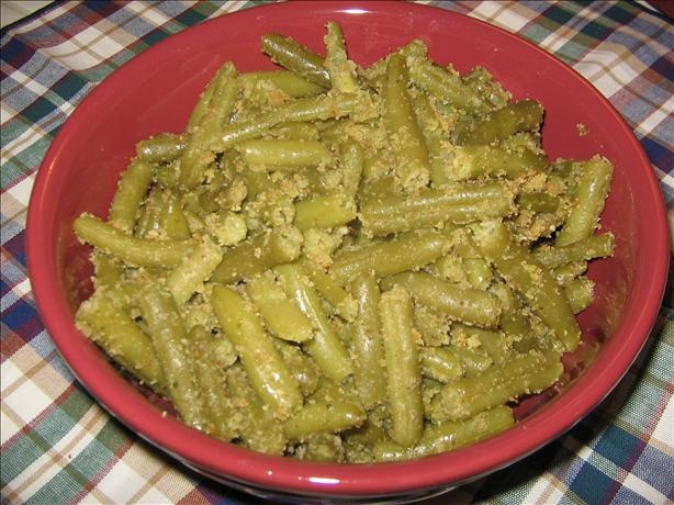 Green Beans With Parmesan Bread Crumbs Recipe — Dishmaps