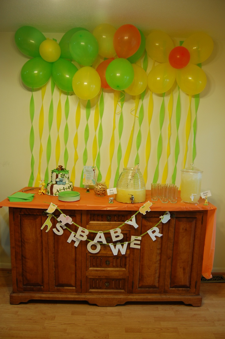 Pinterest for Baby shower safari decoration