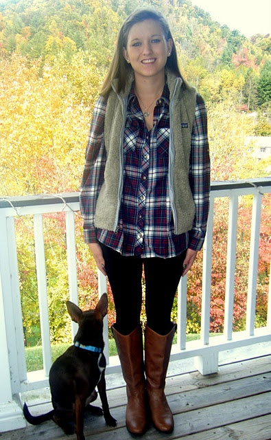 Flannel button up vest patagonia leggings old navy boots target