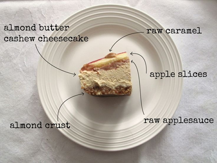 raw almond butter and caramel apple cheesecake - oh yum!