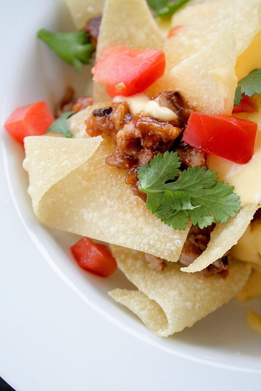 Barbeque Pork and Wonton Nachos | Dips & Appetizers | Pinterest