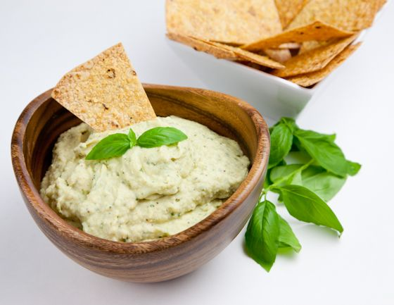 Fresh Basil Cannellini Bean Dip | Vegan Cannellini Bean Dip with Hemp ...