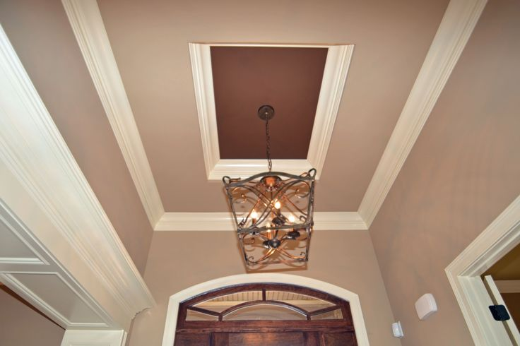 Foyer Tray Ceiling : Oak hill foyer tray ceiling specialty treatments