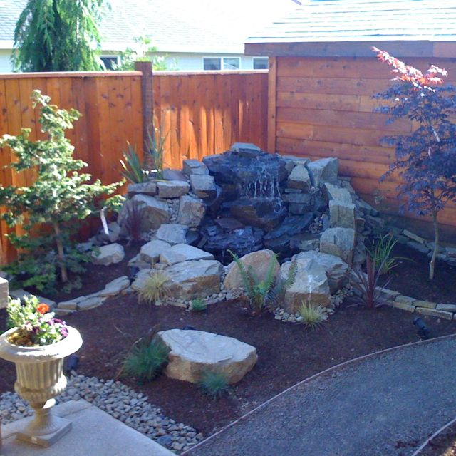 Backyard water feature outdoors pinterest Backyard water features