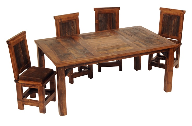 Barnwood Dining Table : Dining Table: Reclaimed Barnwood Dining Table