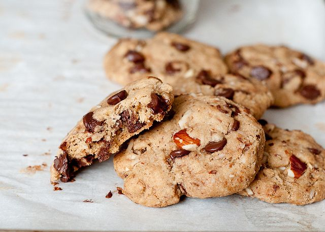 gluten-free vegan coconut-almont choc chip cookies by Lindsey Johnson ...