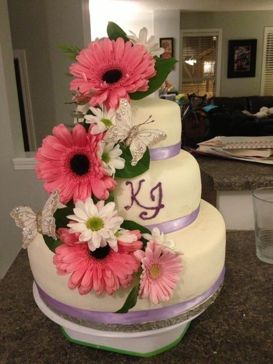 Cake Art By Jenn : Wedding cake for a very nice Hutterite couple. Cake Art ...