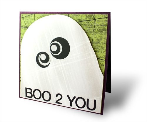 Frightful Halloween Ghost Project Idea Card