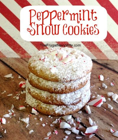 Peppermint Snow Cookies