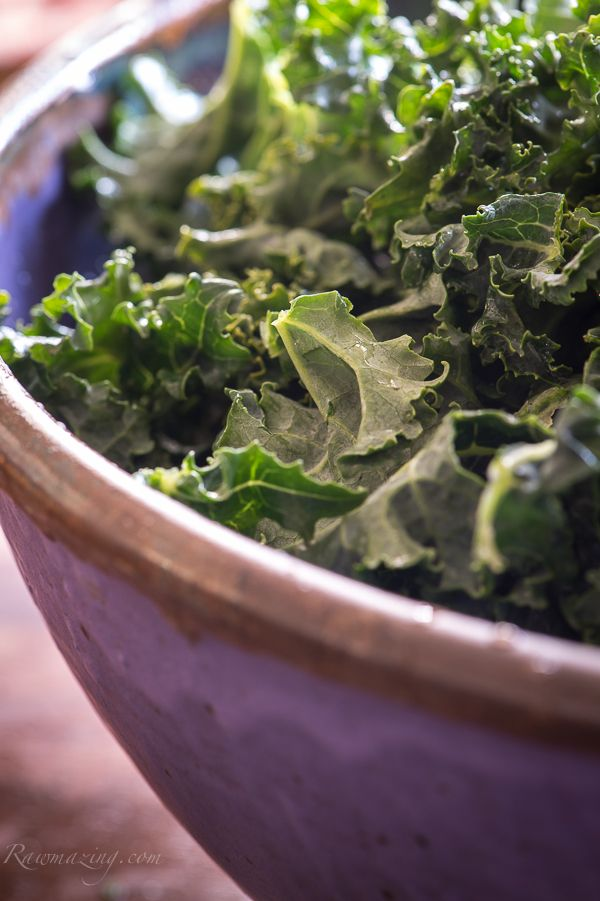 Kale and Cabbage Salad with Creamy Honey Mustard Dressing —Raw Food ...