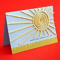 Sunshine card from wool