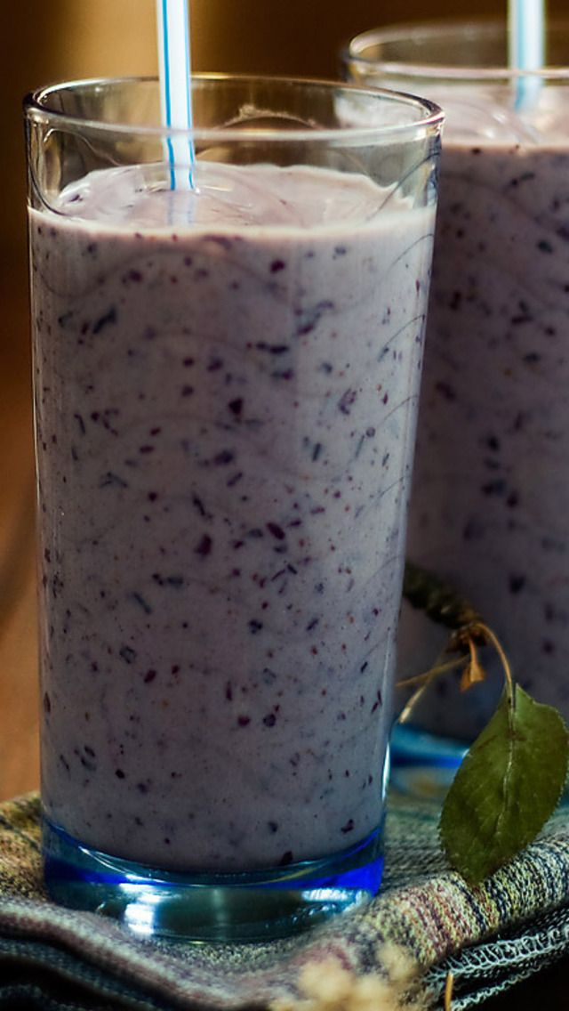 Blueberry Banana Yogurt Smoothie   Yummmm   Pinterest