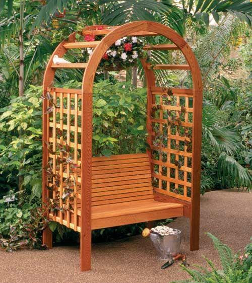Garden Arbor Bench Garden Art Structures Hardscapes Pinter